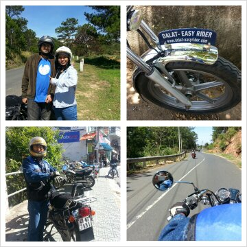 They are distinguishable from other tour guides in Dalat. Their bike and jacket are pretty cool, eh?